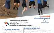 Plakat promujący program 8 tygodni po zdrowie, na którym znajduje się między innymi odnośnik do strony www.akademia.nfz.gov.pl