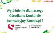 Plakat: Ośrodek Interwencji Powiatowej i Poradnictwa w Myślenicach za realizację działań z zakresu  interwencji kryzysowej otrzymał wyróżnienie