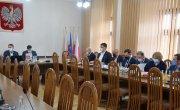 Spotkanie starosty myślenickiego z burmistrzami i wójtami