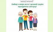 Plakat: Program profilaktyki chorób układu krążenia i cukrzycy dla mieszkańców powiatu myślenickiego