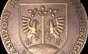 """Medal: """"Zasłużony dla Powiatu Myślenickiego"""""""